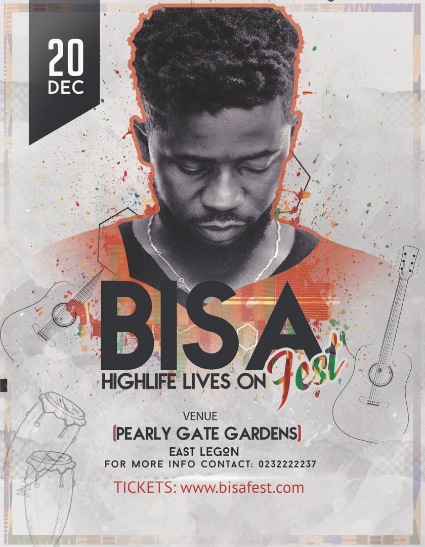 Bisa Kdei confirms 20th December for  #BisaFest 2019
