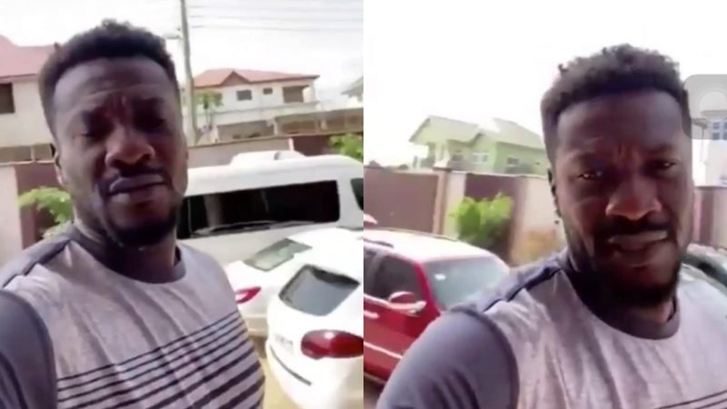 This Will Definitely Motivate You – Asamoah Gyan Displays The Fleet Of Cars In His Mansion – Video