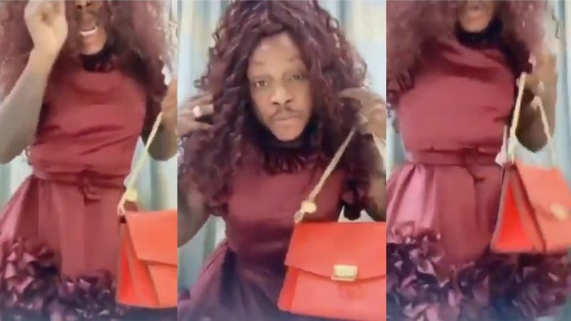 The Moment Keche Andrew Became A Woman As He Switch With His Millionaire Wife Joana Gyan – Video