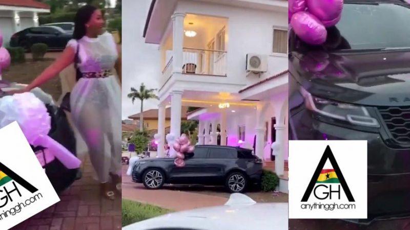 Hajia4Real Beats Nana Aba's Record As She Gets A Range Rover And A Mansion At Trassaco On Her Birthday