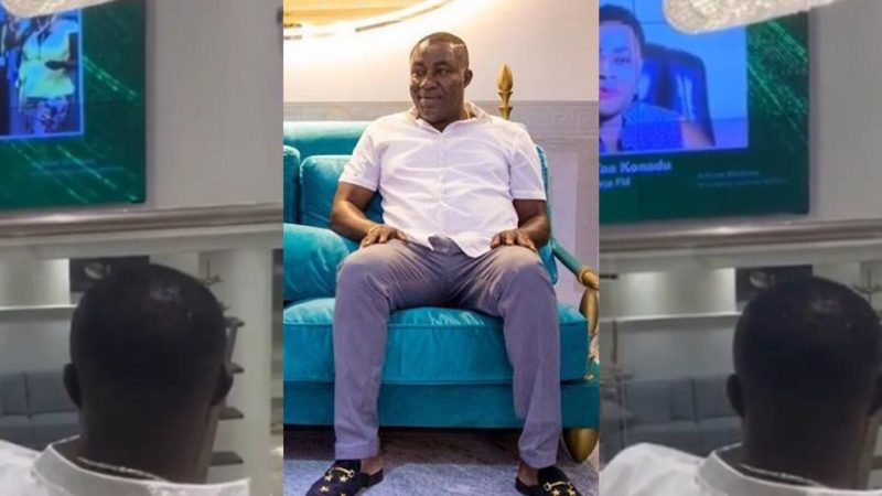 Rare Video Of Osei Kwame Relaxing In His Plush Hall Watching His TV Station (+Video)