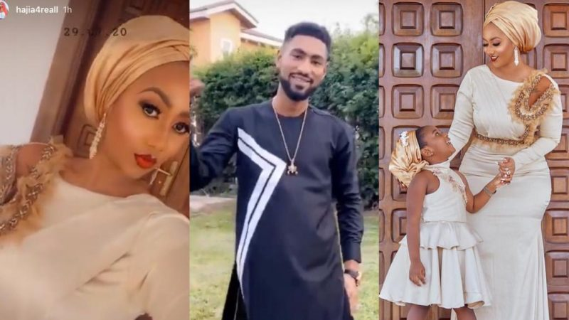 Hajia4Real Celebrates Eid Adha In Style With Handsome Brother And Adorable Daughter