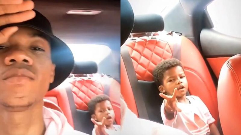 Another Daddy Sunday – Kidi And Son Spend Quality Time Together As He Shows Of His Swag