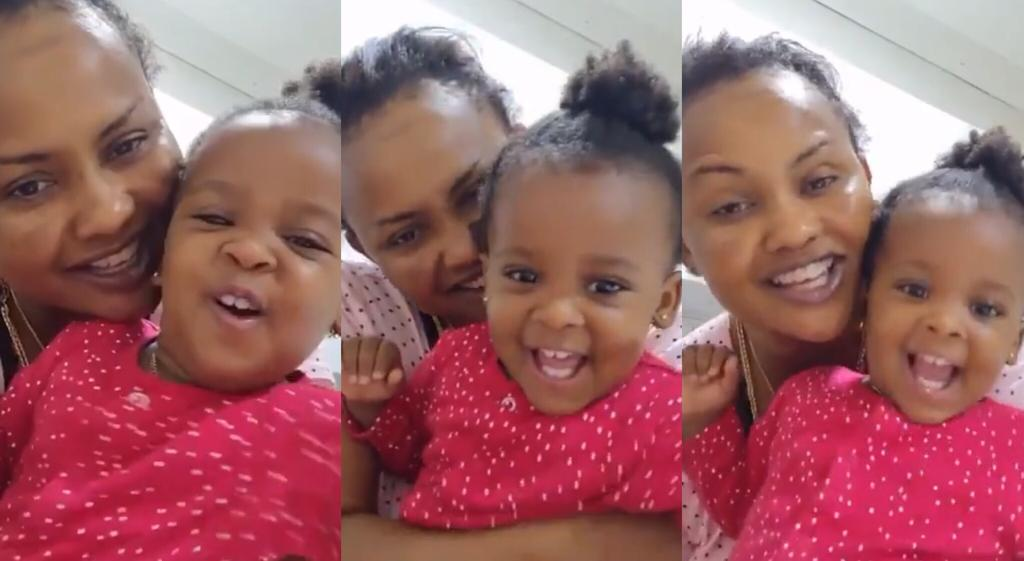 Nana Ama McBrown And Cute Daughter, BaMaxin Get People In The 'Awwwwnn' Mood As They Play Together (+video)