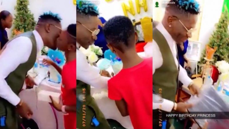 Shatta Wale Showers iPhone, Laptop And Other Gifts On His Daughter On Her Birthday – Video