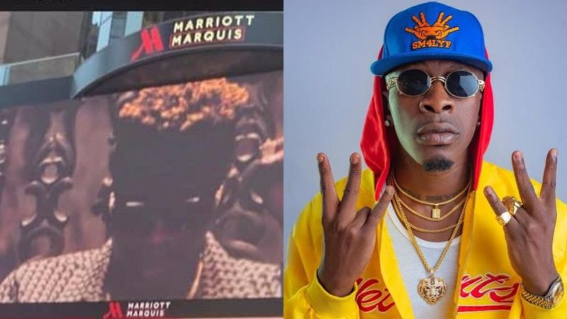 Shatta Wale Sets And Breaks His Own Record, Appears The Second Time On New York Times Square