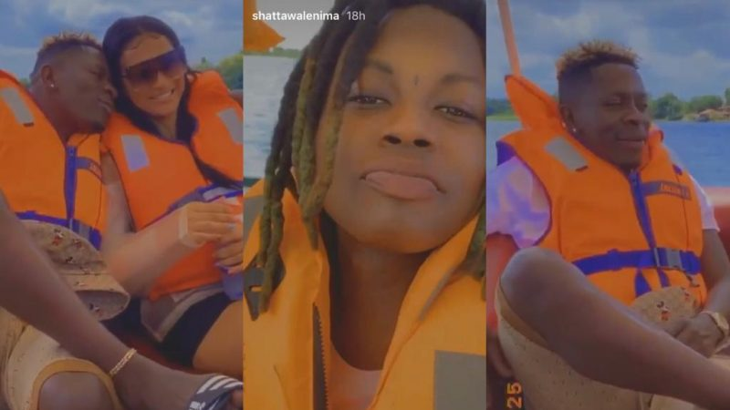 Shatta Wale Chills Out With O.V And His 'Miss Money' On A Boat As She Celebrates Her Birthday