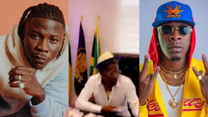 Stonebwoy Reacts With Excitement And Love To Shatta Wale Jamming To His Song 'Putuu'