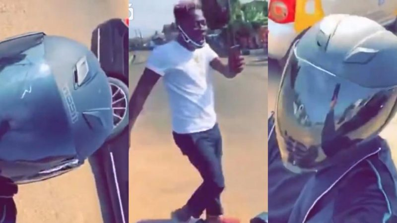 Heartwarming Video Of Stonebwoy And Shatta Wale Showing Love To Each Other On The Streets Hit The Net