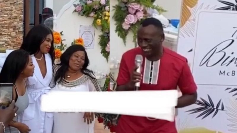 Akrobeto's Performance At Nana Ama McBrown's Birthday Party Got Everybody In A Laughing Mood
