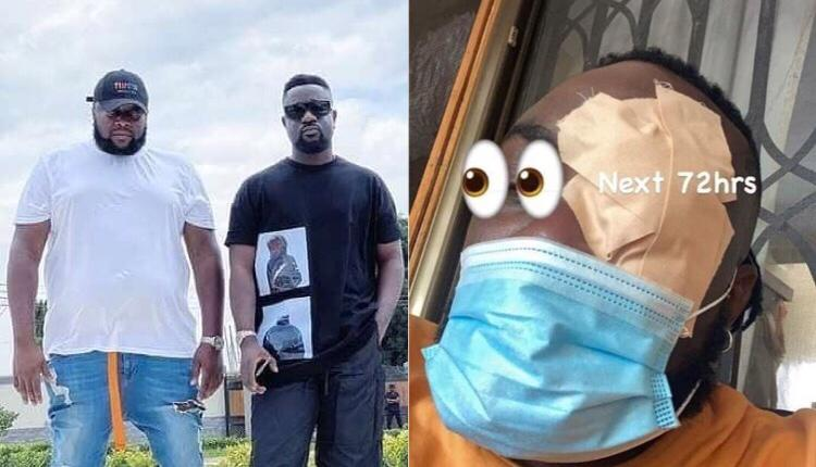 Sarkodie's Manager Involved In A Sad Incident As He Gets Problem With His Eyes (photo+video)