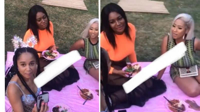Sandra Ankobia And Hajia4Real Show Up For Sister Derbie's 36th Birthday Party With Much Love