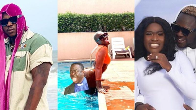 Medikal Puts Fella Makafui's Bortos Skin On Display As He Wishes Her A Happy Birthday