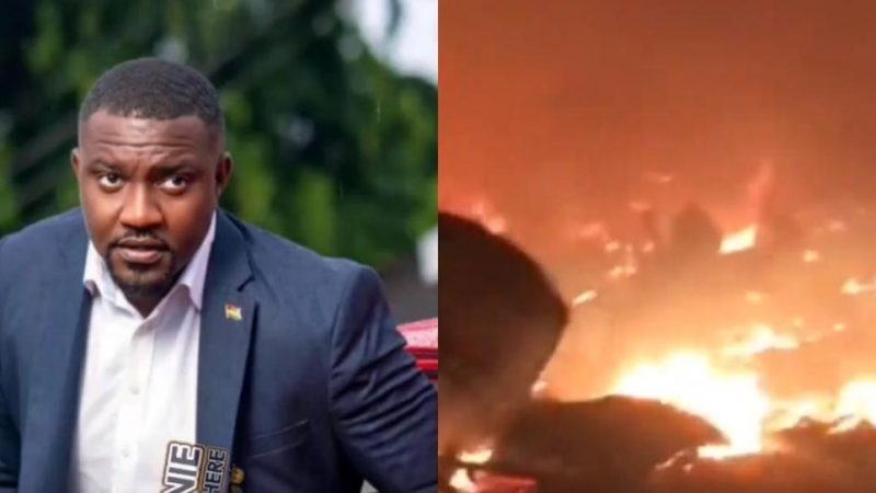 John Dumelo Becomes Hero During the Explosion At Shiashie As Eye Witness Narrates How He Helped To Resolve The Issue