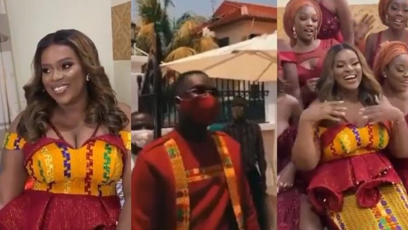 Video Of Joe Mettle And His Wife Selasie, Looking Lovely At Their Traditional Wedding