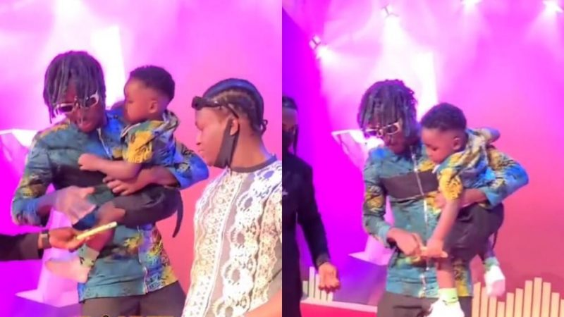 Kofi Mole And Son Rock VGMA Red Carpet In Style With Their Twin Dressing (+video)
