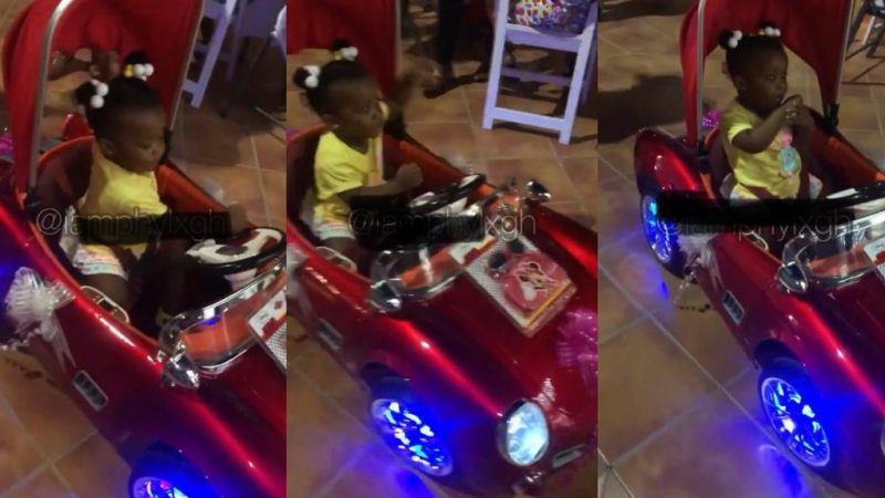 BaBy Maxin Flexes With Her Classic Private Car As She Arrived At Her Mum, Nana Ama McBrown's Birthday Party