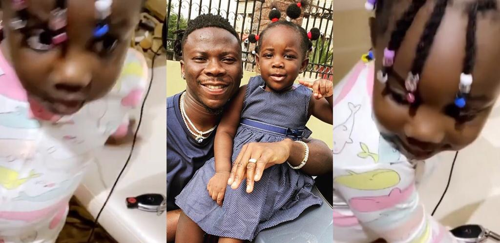 Stonebwoy's Daughter Melts Heart With Video Of Her Singing Her Father's Putuu