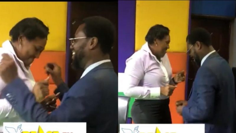 Abeiku Santana Get On The Dance Floor In The Studio As The Celebrate Their Anniversary
