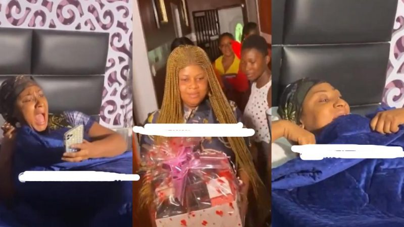 Actress Ellen Kyei White Dumbfounded As Friends And Family Storm Her Bedroom To  Wish Her A Happy Birthday