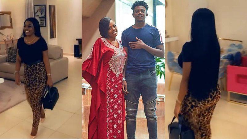 Nana Aba Anamoah's Son Teases Her, Tells Her She Walks Like A Duck – Video