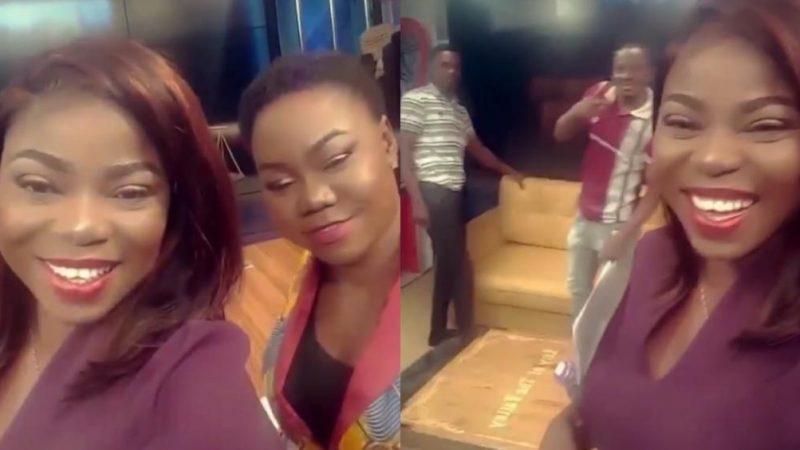 Afia Pokua Shares Fun Times At Work Off Camera – Video