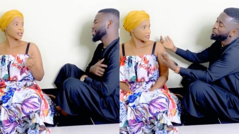 Bisa Kdei Sings For Benedicta Gaffah In A Romantic And Funny Mood – Video
