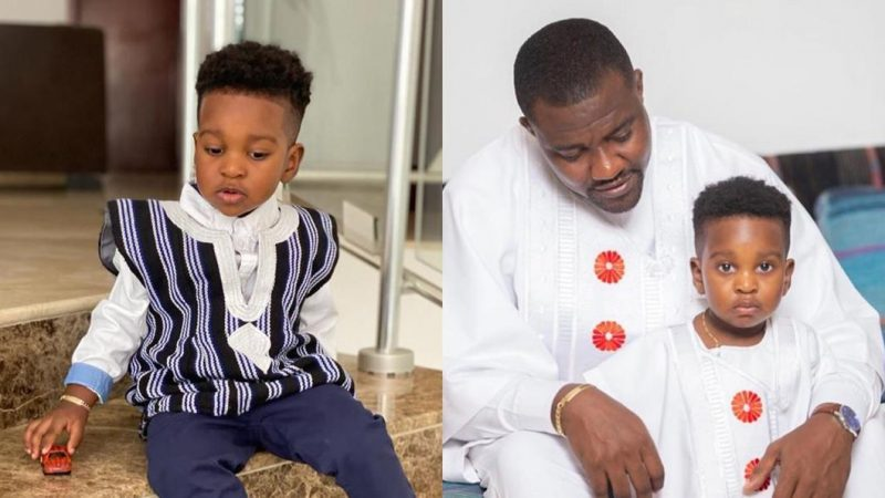 John Dumelo's Son, Jnr Dumelo Turns 2 Years Today, Check Out His Father's Message To Him