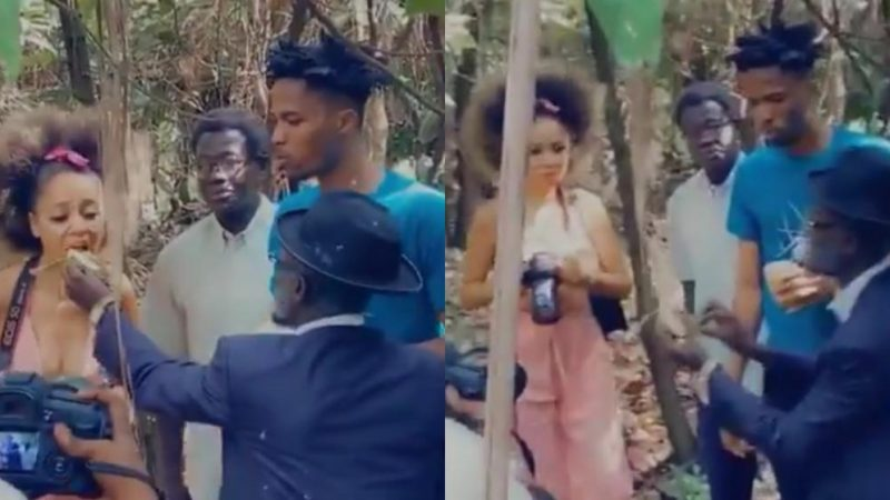 Kwesi Arthur And Sister DerBy Enjoy Their Time On Set Of Lil Win's Upcoming Series