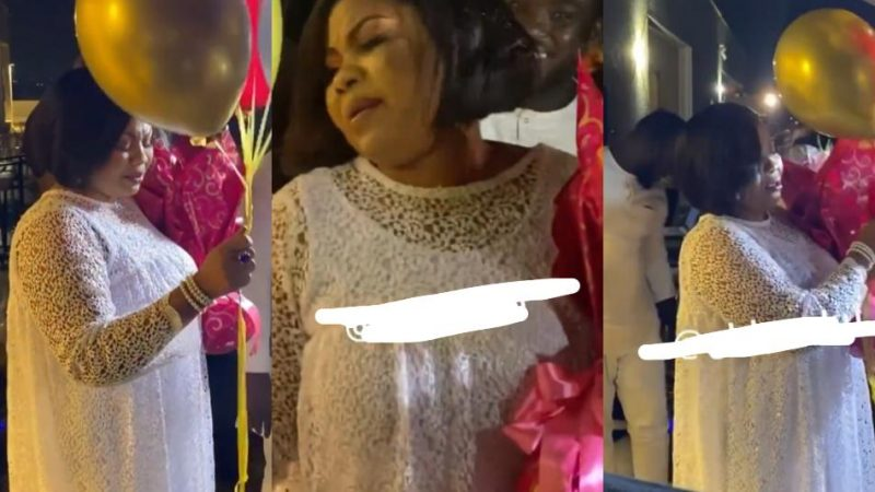 Empress Gifty In Tears And Shaking After Being Startled On Her Birthday – Video