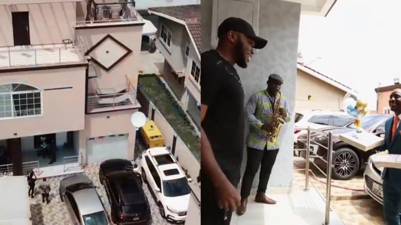 Video Of Kennedy Osei's Mansion Hit The Net As He Gets He Startle Birthday Cake