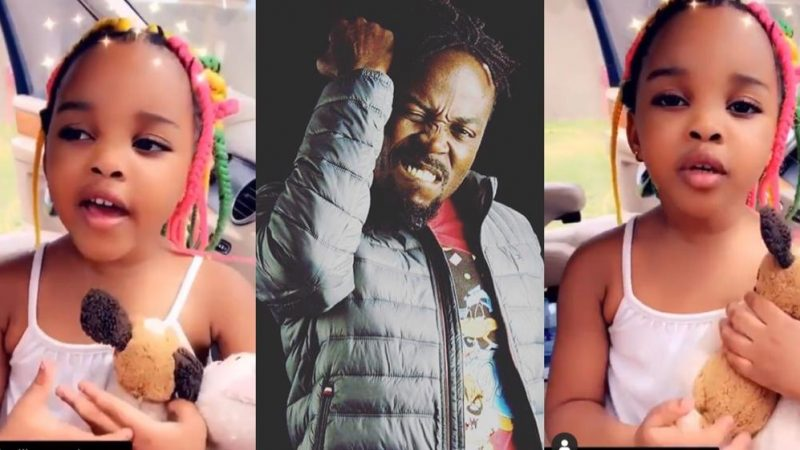 Kwawkese's Daughter Melts Hearts As She Sings Happy Birthday To Her Father