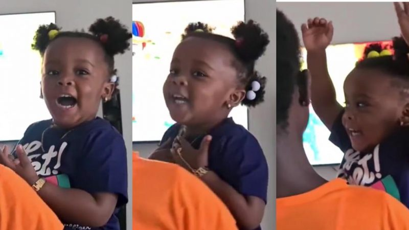 (Video) Nana Ama McBrown's Daughter BaBy Maxin Is A Whole Mood, See How She Enjoys Her Favorite Song