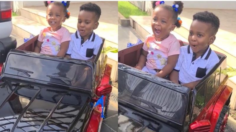 Nana Ama McBrown's Daughter, BaBy Maxin, Takes A Ride With John Dumelo's Son As He Celebrates His Birthday
