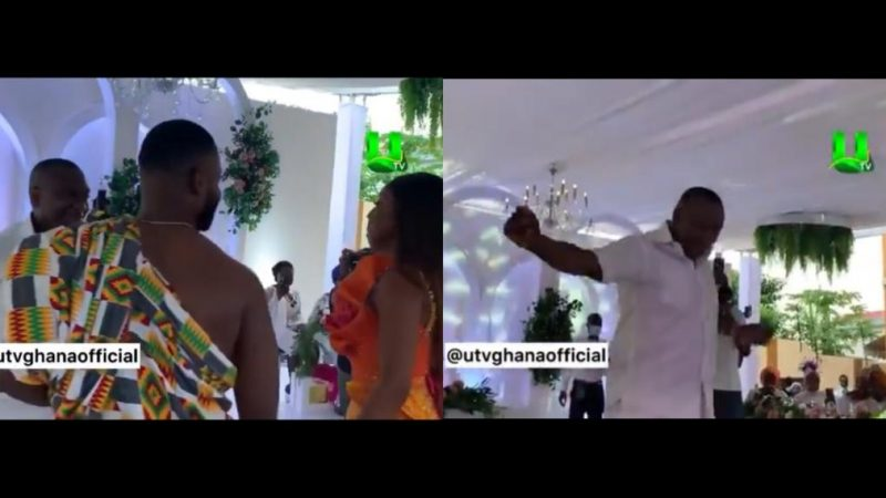 Dr Ernest Ofori Sarpong Joyfully Shows Off His Dance Skills As His Daughter And Son-in-law Joins Him On Stage