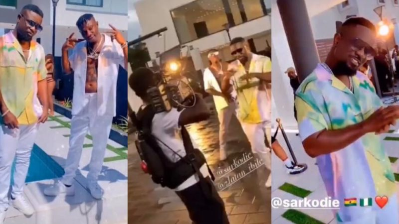 Watch Exclusive Behind The Scenes Of Sarkodie And Zlatan Video Shoot – Video