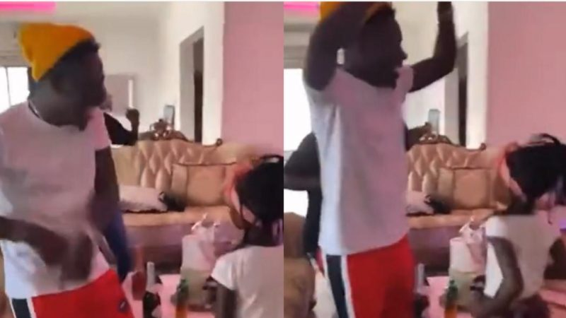 Shatta Wale And Daughter Happily Dance And Shake Off Stress With Kuami Eugene's Open Gate