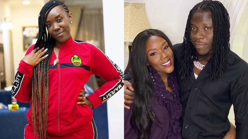 Check Out Stonebwoy's Lovely Reaction After Seeing A Photo Of His Wife In A BHIM Wear