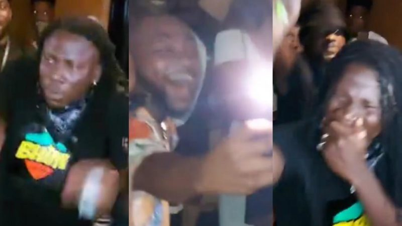 Stonebwoy Goes Crazy As He Jams To His Putuu While Hanging Out With Davido In A Club