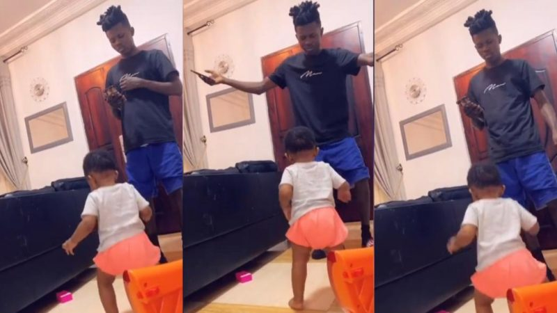 Strongman And Daughter Have Fun Dancing Together – Video