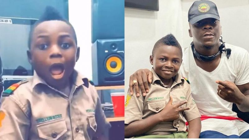 Yaw Dabo In A Over Excited As He Visits Stonebwoy In His House And Studio