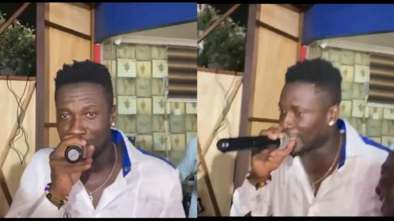 Asamoah Gyan 'Spoil There' Displaying His Singing Skills With A Live Band At His Birthday Party