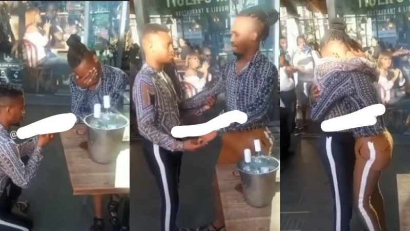 Gay Couple Cease Attention With Their Marriage Proposal – Video