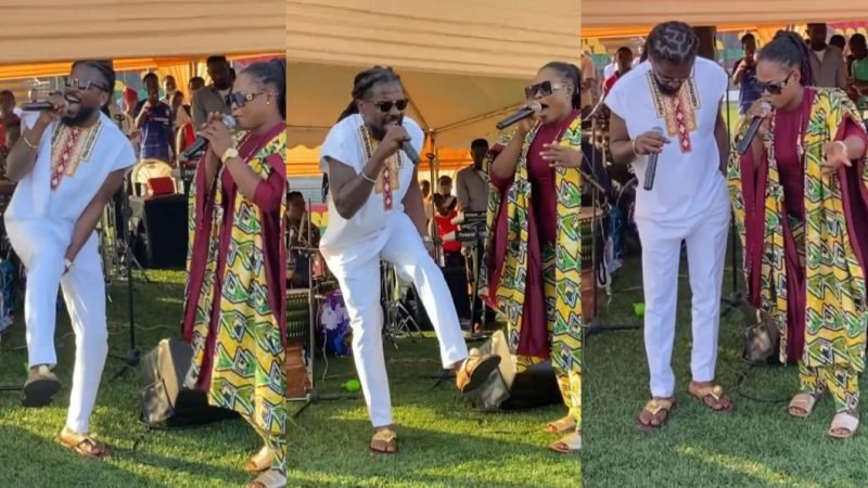 (Video) Samini And Joyce Blessing Create A Magical Moment On Stage
