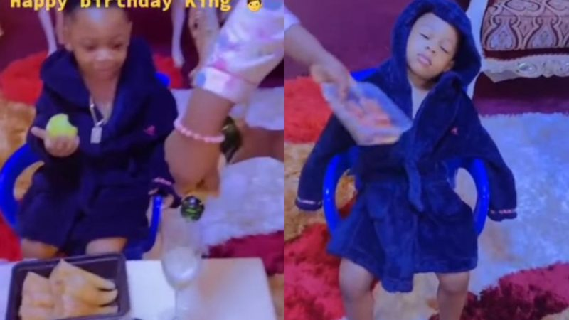 Rev Obofour's Son Gets A King's Treat On His 3rd Birthday (video)