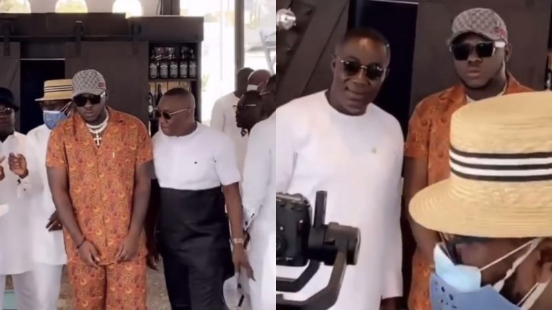 (Video) Medikal Hangs Out With Osei Kwame Despite, Dr. Ernest Ofori Sarpong And Other Millionaires At East Legon