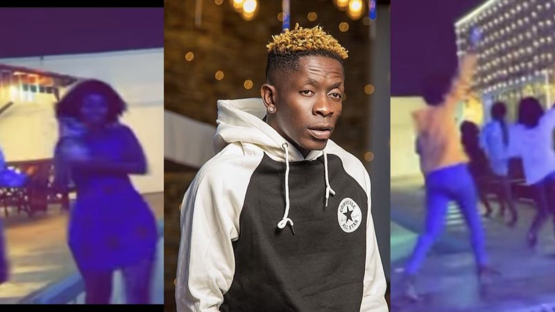 This Is How Shatta Wale's Girls Gathered At His Pool To Have Fun – Video