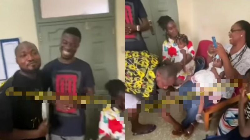 Emotional Moment Of Funny Face Asking For Forgiveness From His BaBy Mama And Family