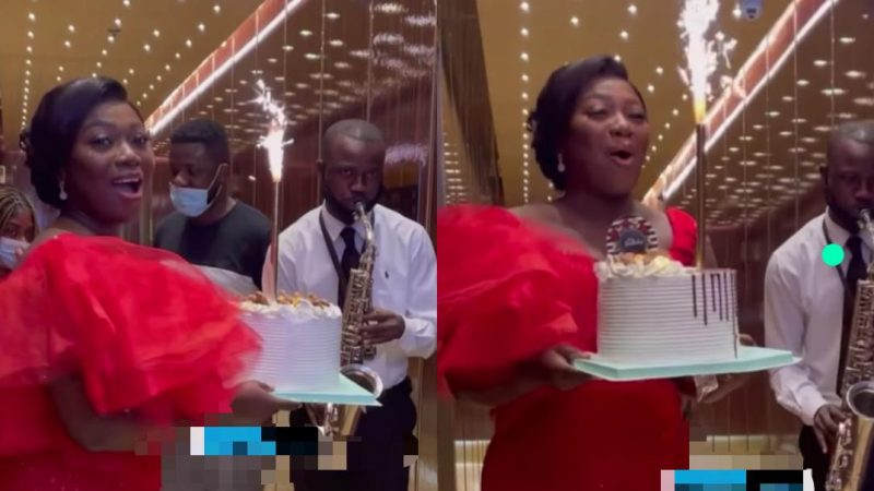 Stacy Amoateng Speechless After She Was Stunned By Her Husband Okyeame Qouphi On Her Birthday