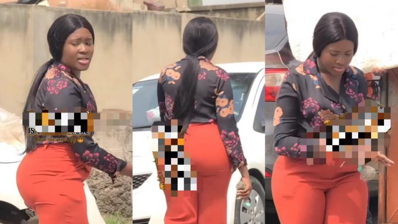 Fella Makafui Hit The Set Of Stryke Series, The Continuation Of Yolo (video)